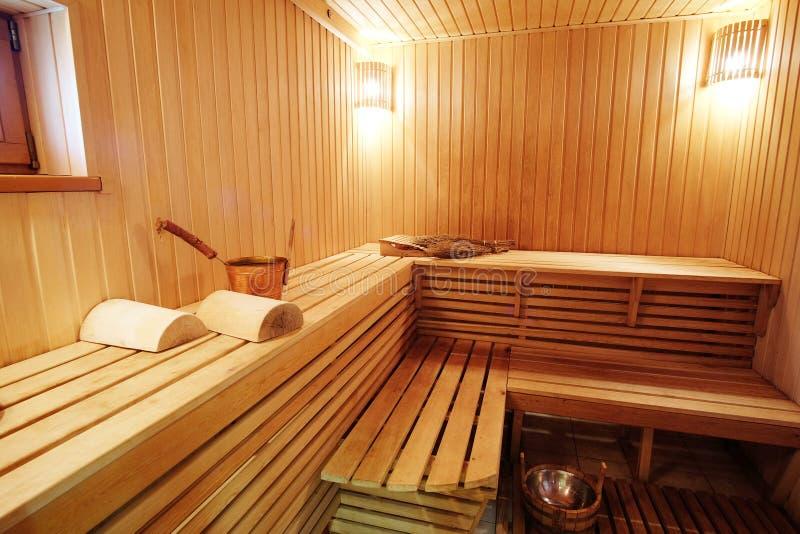 俄国浴的蒸汽房 库存照片
