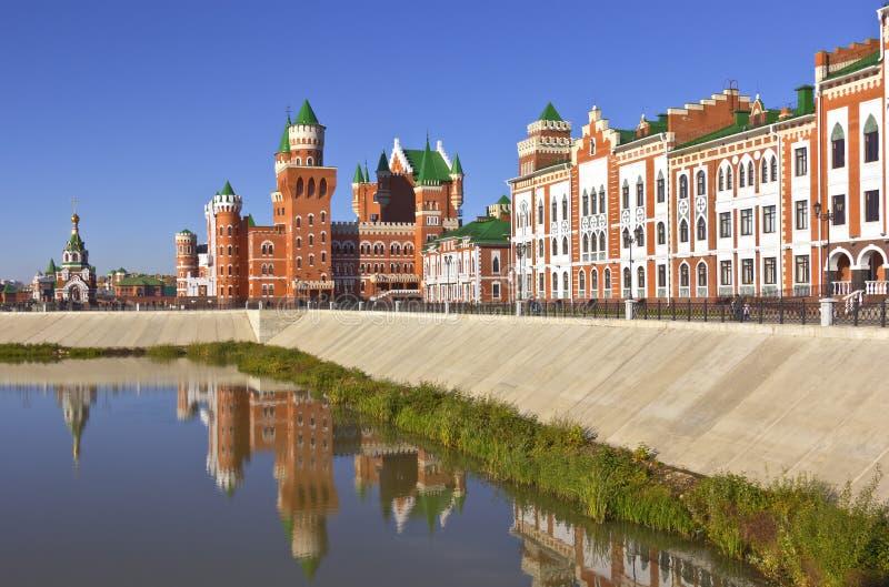 俄国建筑学和传统约什卡尔奥拉俄罗斯 库存照片