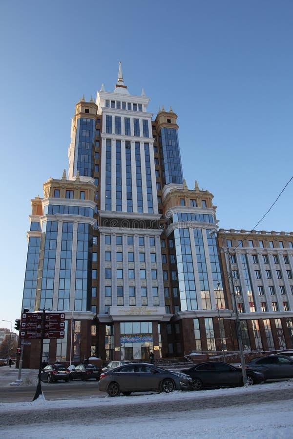 俄国 莫尔多瓦共和国共和国,圣西奥多乌沙科夫大教堂在萨兰斯克 图库摄影