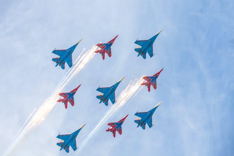 俄国 莫斯科- 2015年5月9日 胜利天 免版税图库摄影