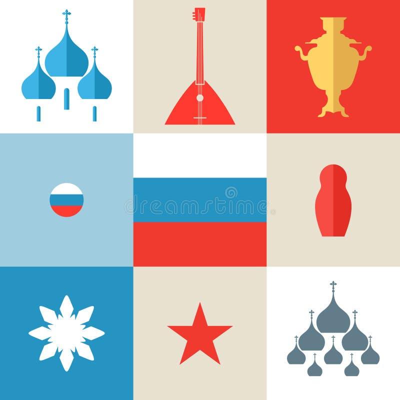 俄国 象集合 向量例证