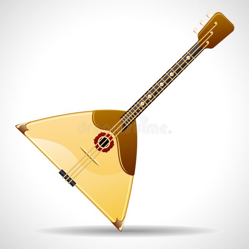 俄式三弦琴向量 库存例证