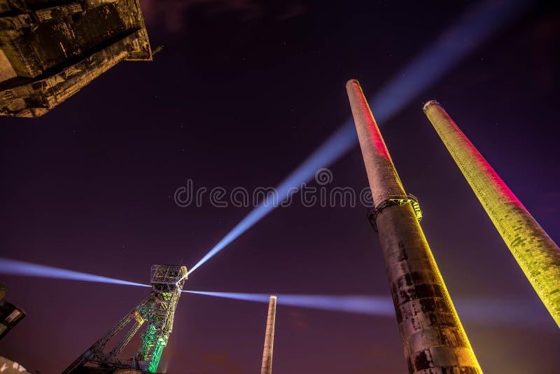 俄斯拉发费斯特夜的颜色 库存图片