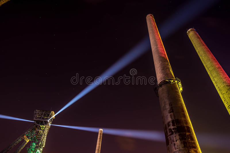 俄斯拉发费斯特夜的颜色 免版税库存图片