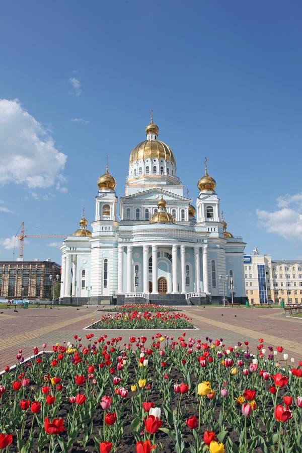 俄罗斯。莫尔多瓦共和国。费奥多・乌沙科夫海军上将大教堂 库存图片