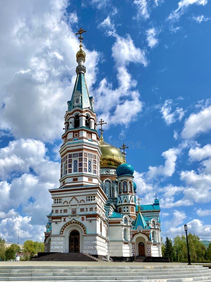 俄罗斯东正教 乌斯彭斯基多米提安主教座堂 免版税库存图片