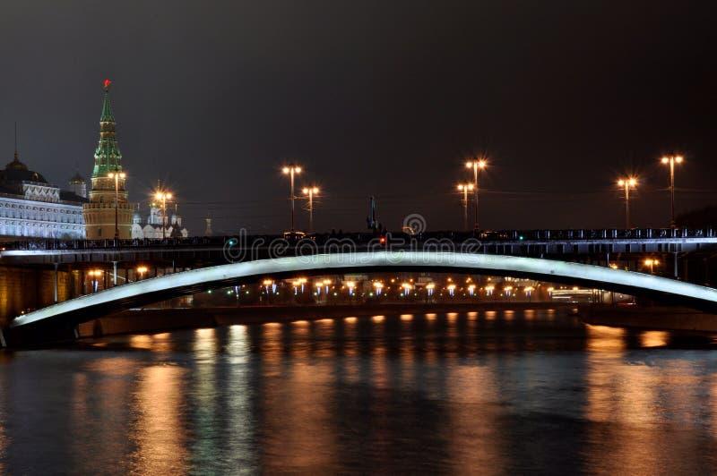 俄罗斯克里姆林宫塔,资本,桥梁 免版税库存图片