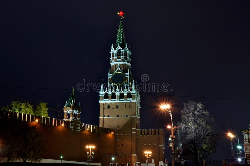 俄罗斯克里姆林宫塔,资本,红场 免版税库存照片