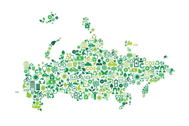 俄罗斯地图环境保护绿色概念象 皇族释放例证