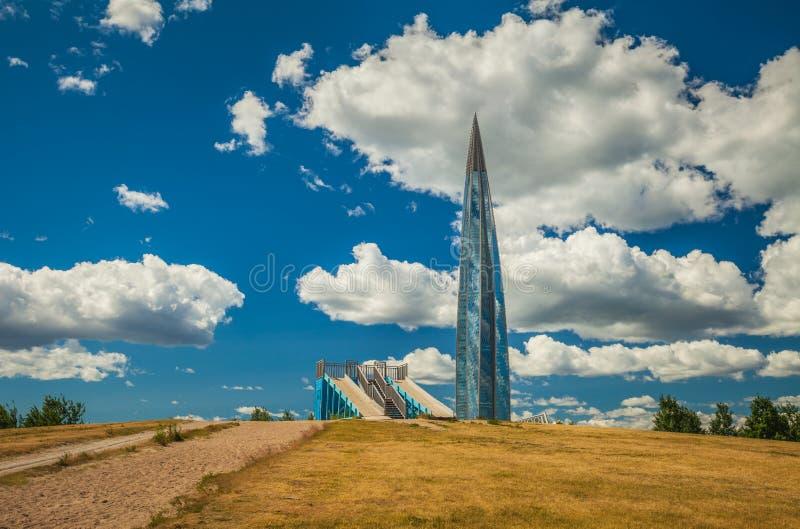 俄罗斯天然气工业股份公司摩天大楼拉赫塔中心 圣彼得堡 库存图片
