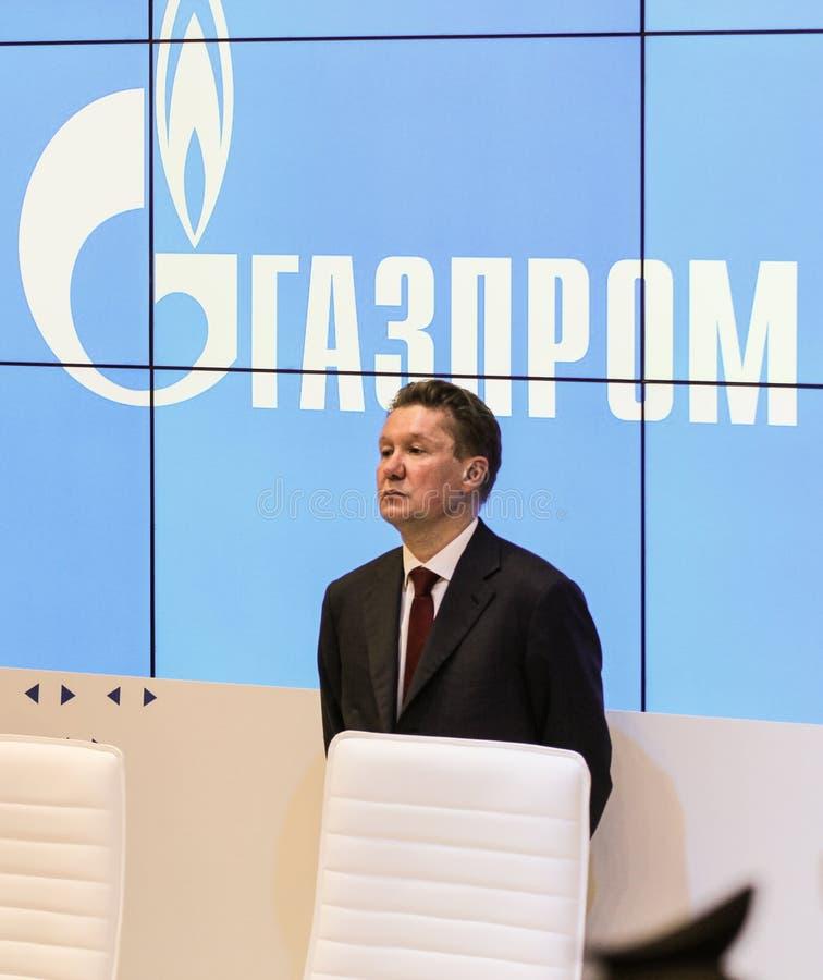 俄罗斯天然气工业股份公司管理理事会的主席 免版税库存照片
