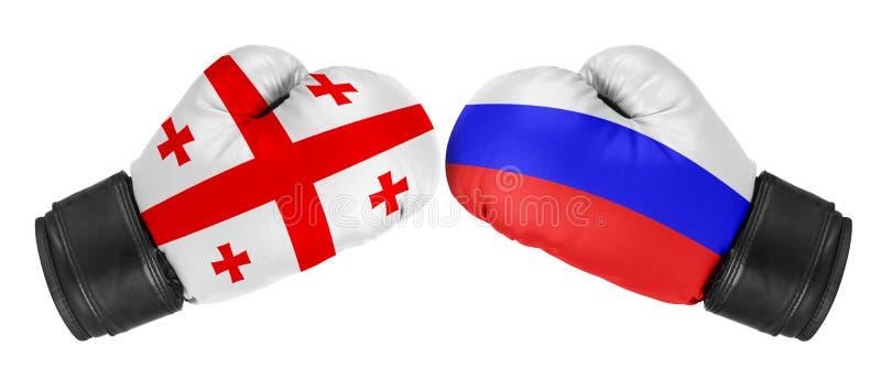 俄罗斯对乔治亚 免版税库存照片