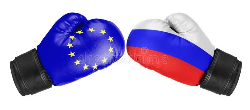 俄罗斯对欧盟 免版税库存照片