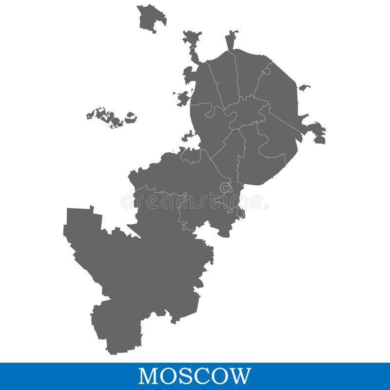 俄罗斯的地图  向量例证