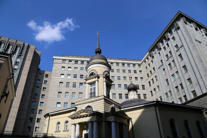 俄罗斯的FSB的大厦 fsb lubyanka莫斯科俄国广场 莫斯科俄国 免版税库存照片