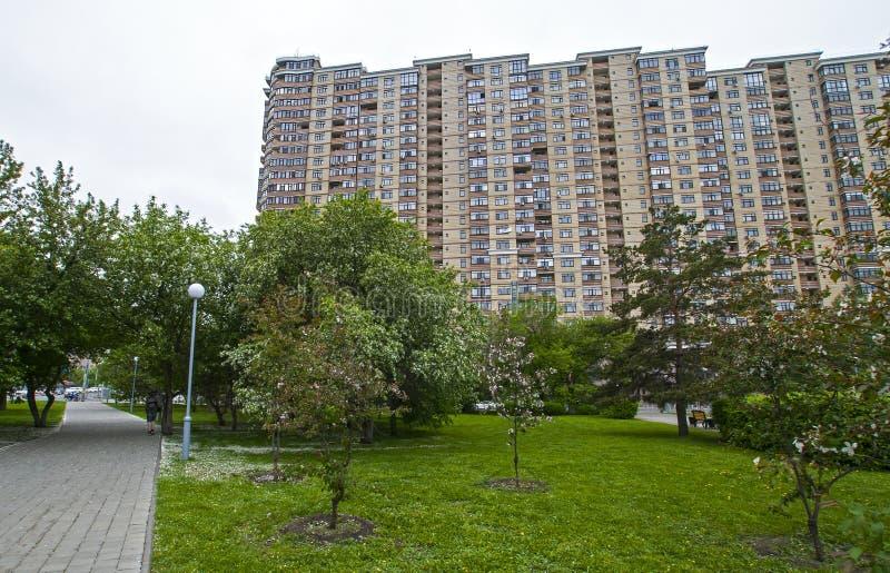 俄罗斯秋门,2020年5月15日:住宅复合体 库存图片