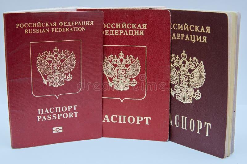 俄罗斯联邦护照 免版税库存图片
