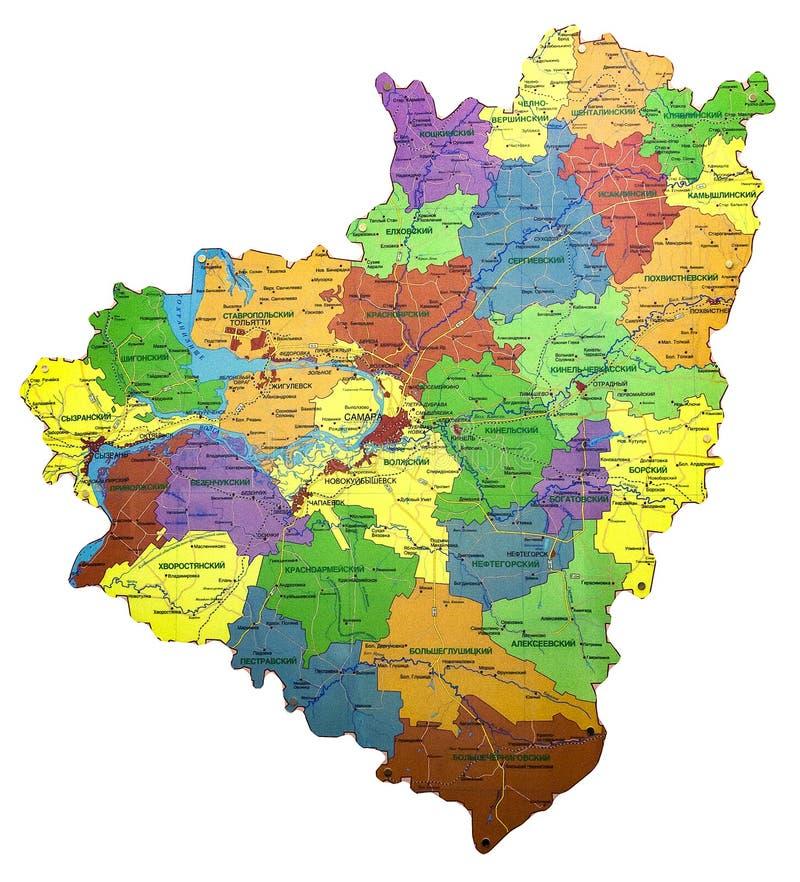 俄罗斯联邦的翼果地区的地图 免版税库存照片