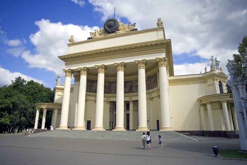 俄罗斯联邦的莫斯科VDNH亭子 库存照片