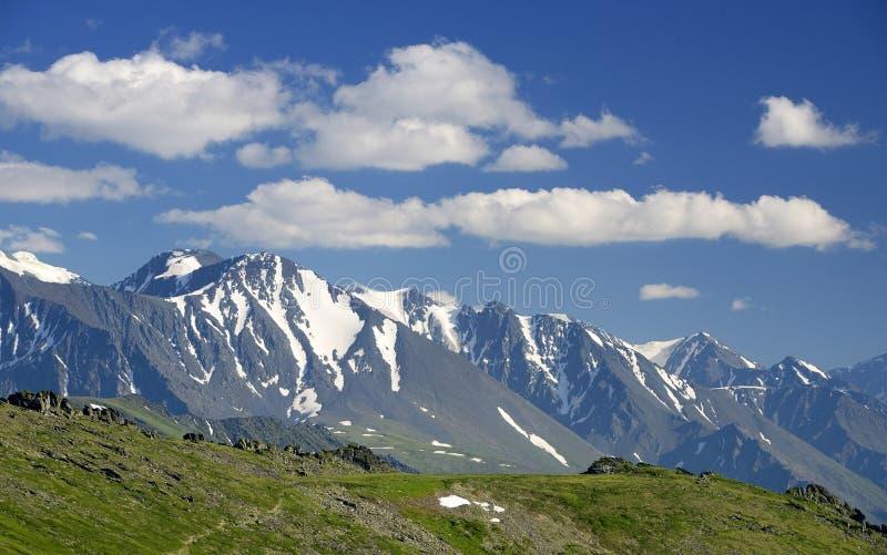 俄罗斯西伯利亚阿尔泰山夏季高山景观 库存照片