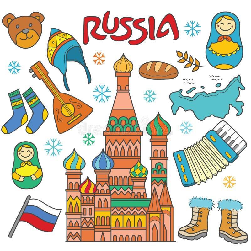 俄罗斯象元素 向量例证