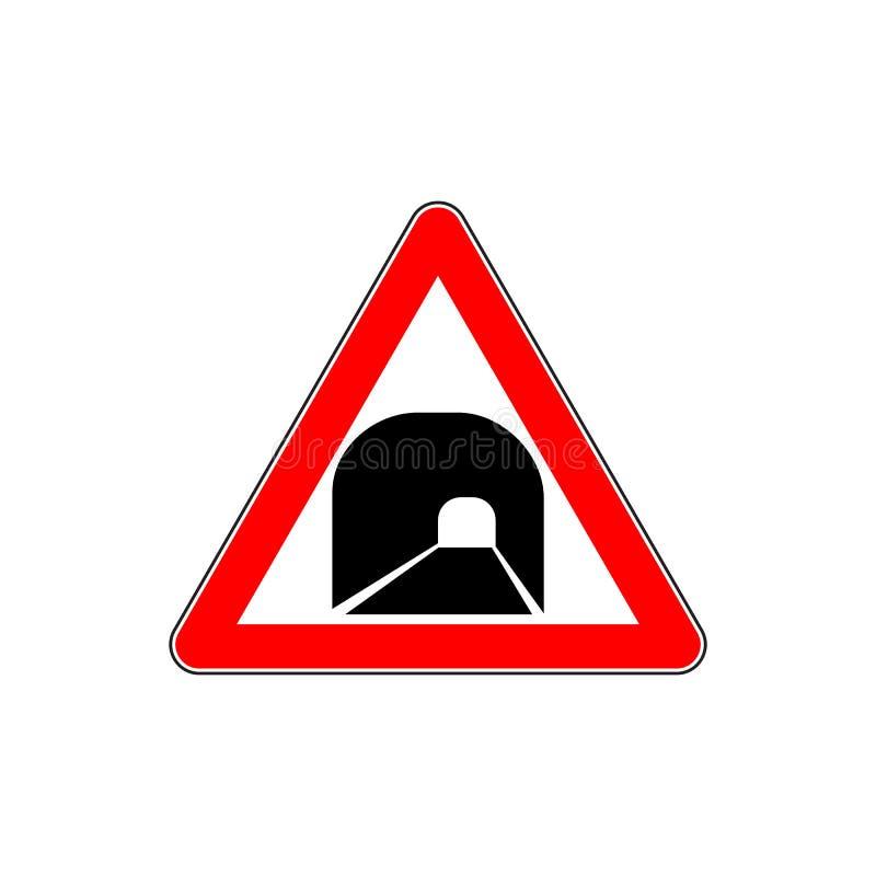 俄罗斯隧道前面路标 库存例证