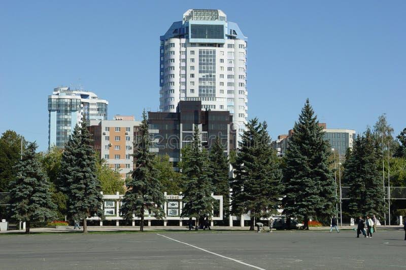 俄罗斯,翼果, Kuibyshev广场城市 免版税库存图片