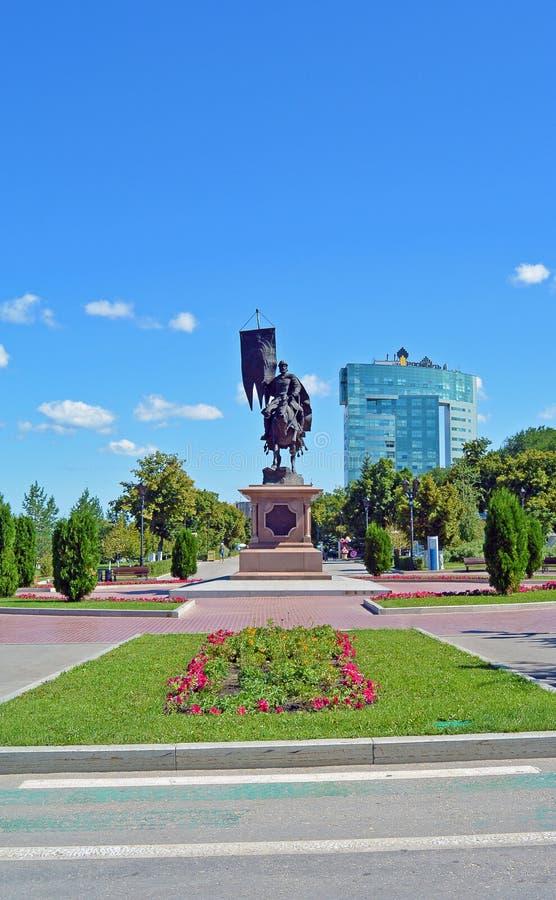 俄罗斯,翼果2017年:对Grigory Zasekin的一座纪念碑 库存图片