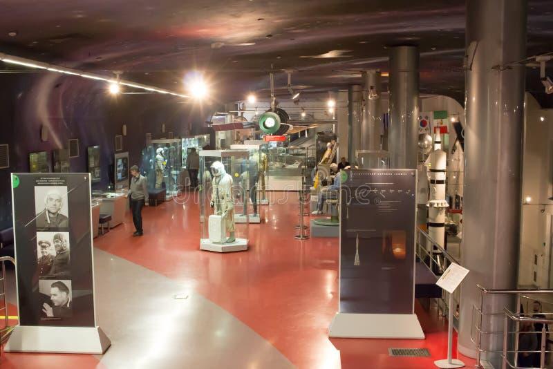 俄罗斯,莫斯科,宇宙航行学博物馆  免版税库存图片