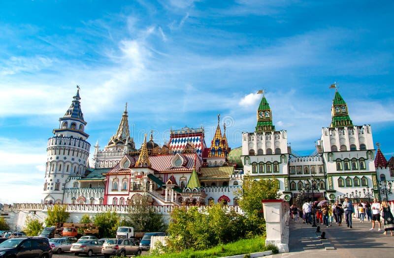俄罗斯,莫斯科2019年7月27日:Izmailovo克里姆林宫 免版税库存照片