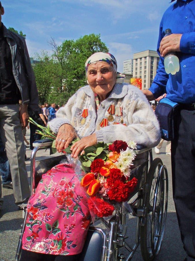 俄罗斯,莫斯科- 2010年5月9日 胜利天 图库摄影