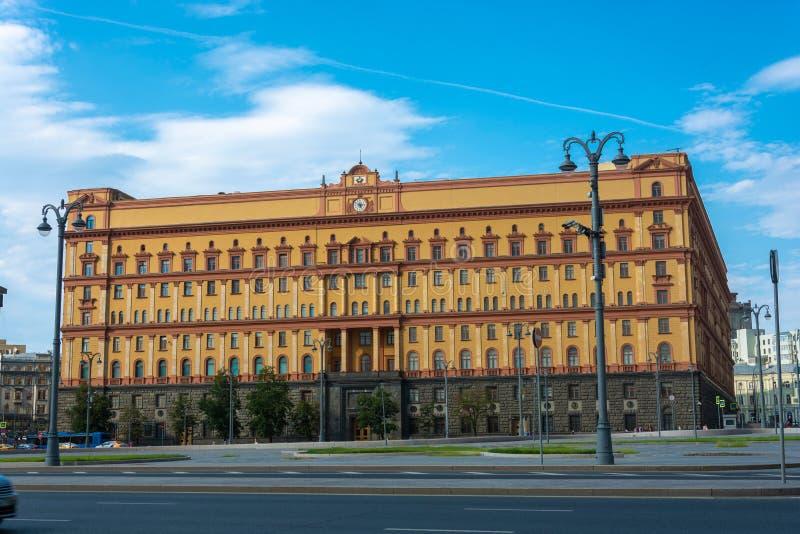 俄罗斯,06/22/2019,莫斯科,俄罗斯的联邦安全部门的大厦Lubyanka的 库存图片