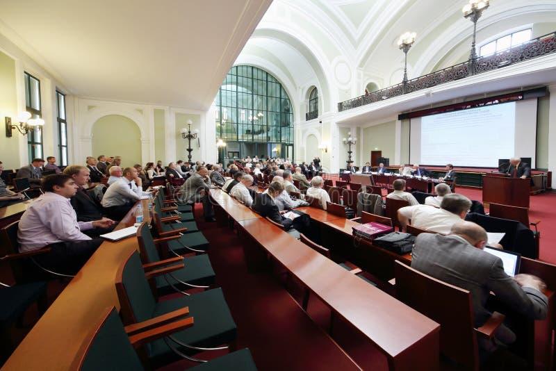 俄罗斯水产业会议的人们2012年 库存图片