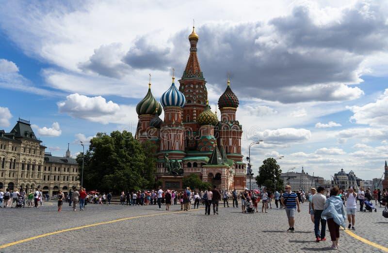 俄罗斯-红场的柏拉仁诺教堂 免版税库存图片