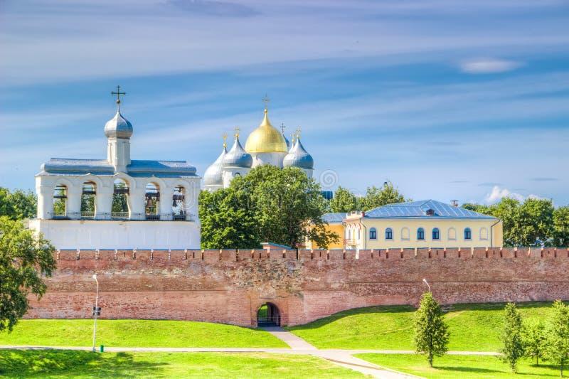 俄罗斯Veliky诺夫哥罗德克里姆林宫St索菲娅大教堂 免版税库存照片