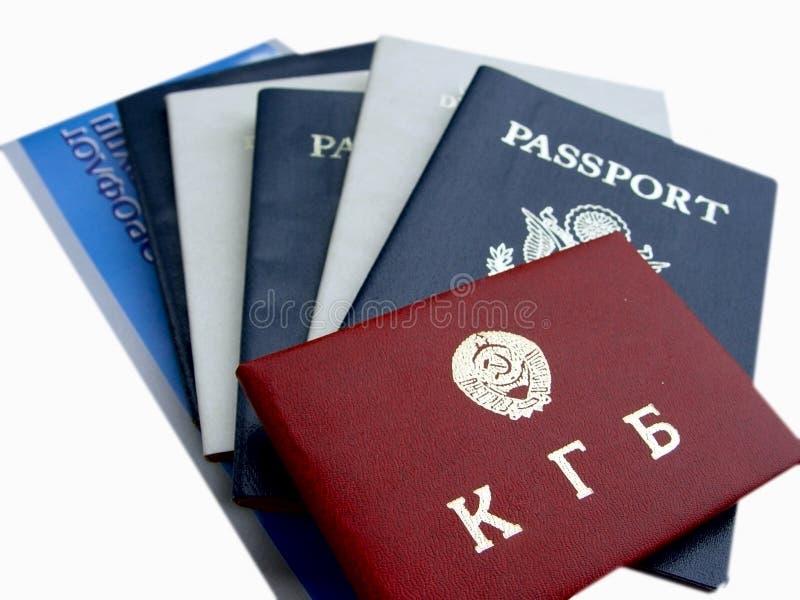 俄语美国的文件 免版税库存图片