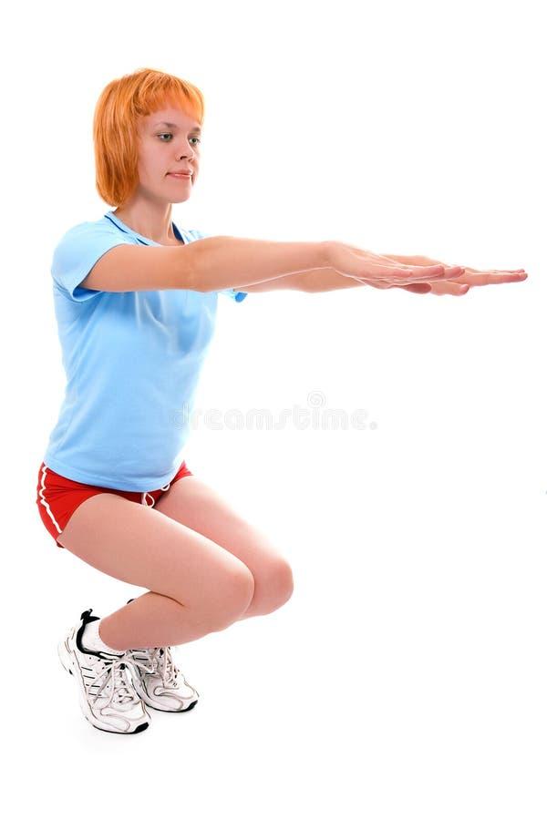 俏丽健身的女孩 免版税库存图片