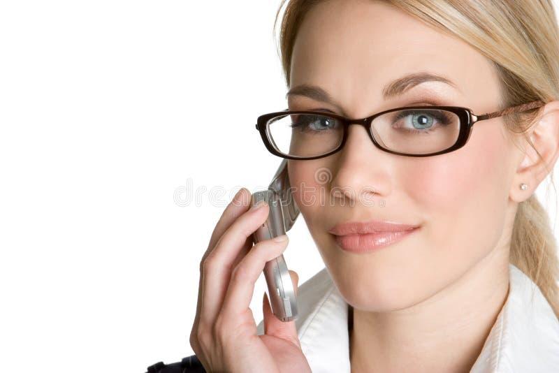 俏丽女孩的电话 免版税库存图片