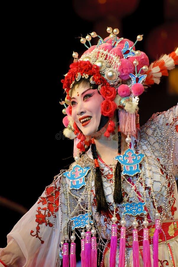 俏丽女演员中国的歌剧 免版税库存照片