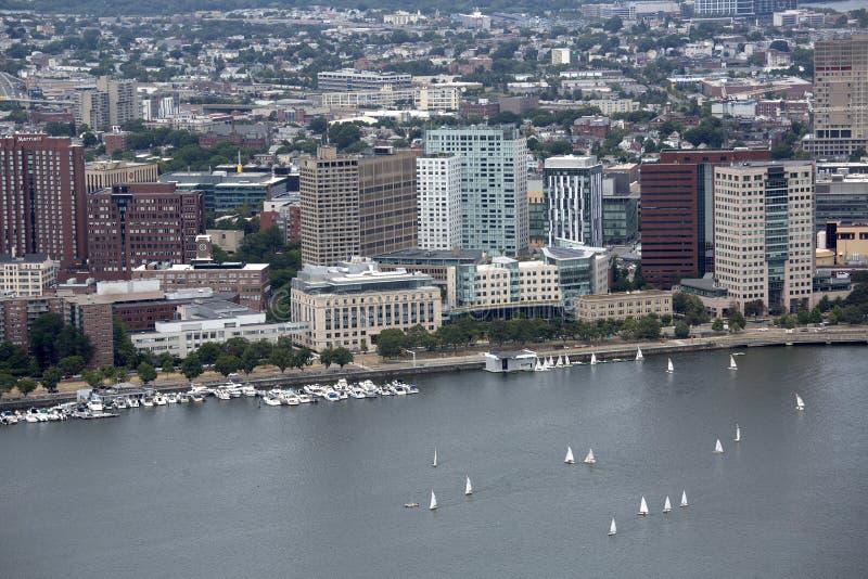 俏丽的城市波士顿大量 库存照片