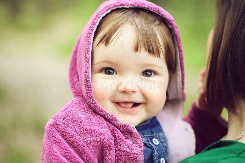 俏丽的女婴 库存照片