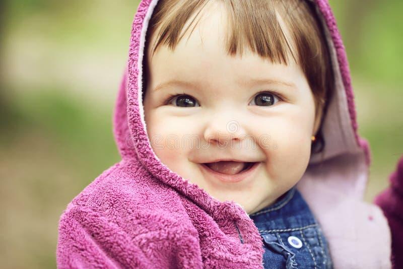 俏丽的女婴 库存图片