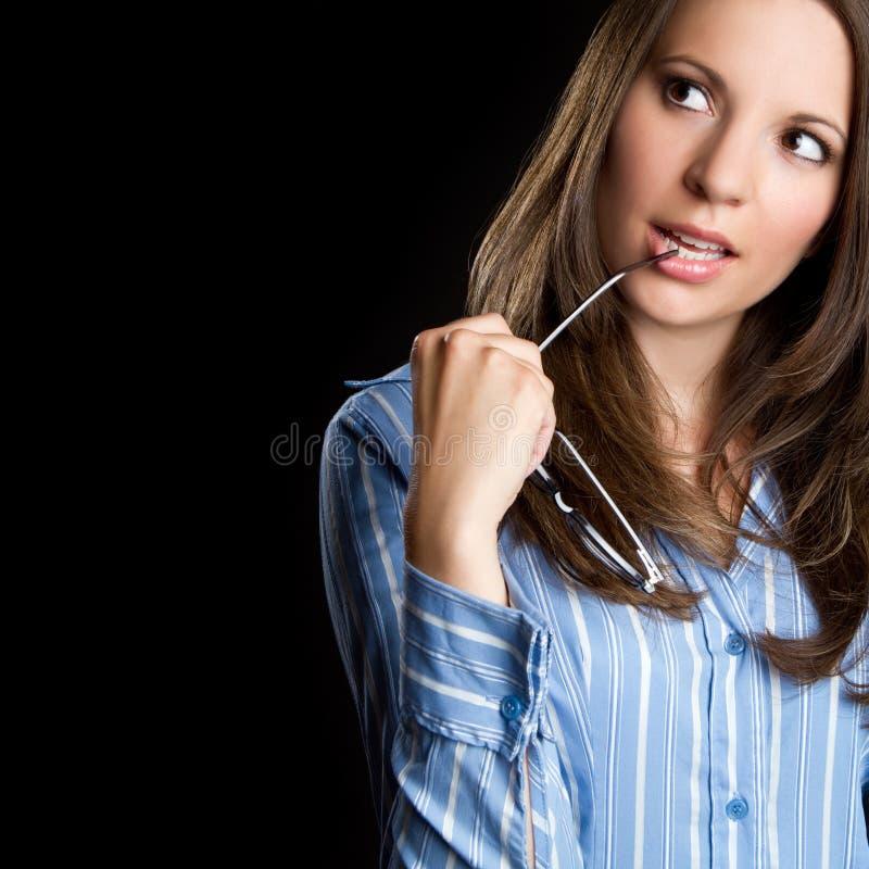 俏丽的妇女 免版税库存照片