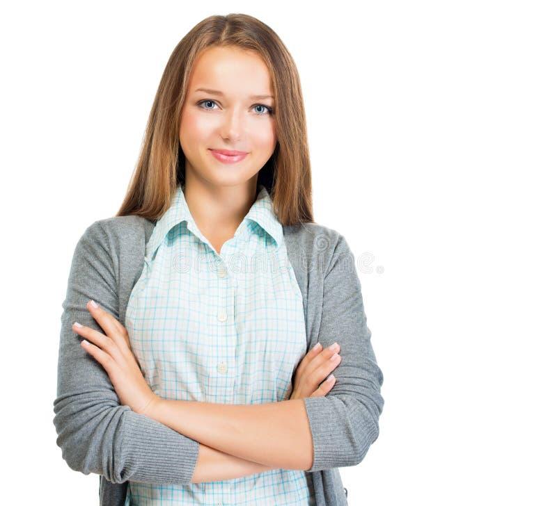 俏丽的学生女孩 免版税库存照片