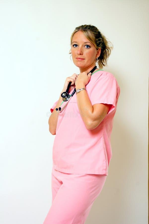 俏丽的护士 库存照片