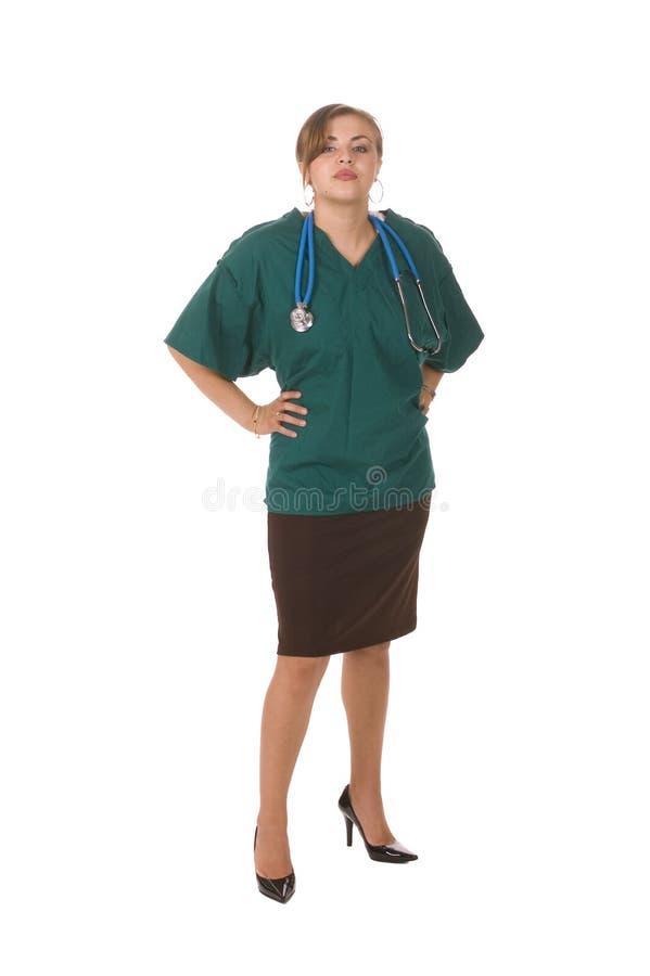 俏丽的西班牙护士 库存照片