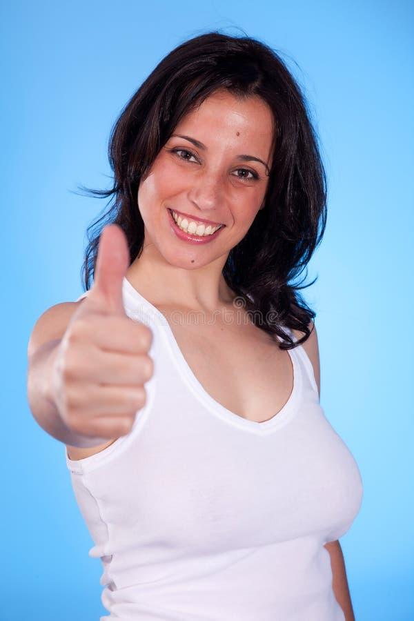 俏丽的赞许妇女年轻人 免版税图库摄影