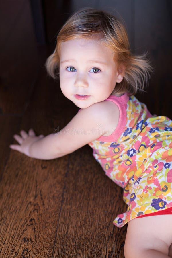 俏丽的婴孩画象 库存图片