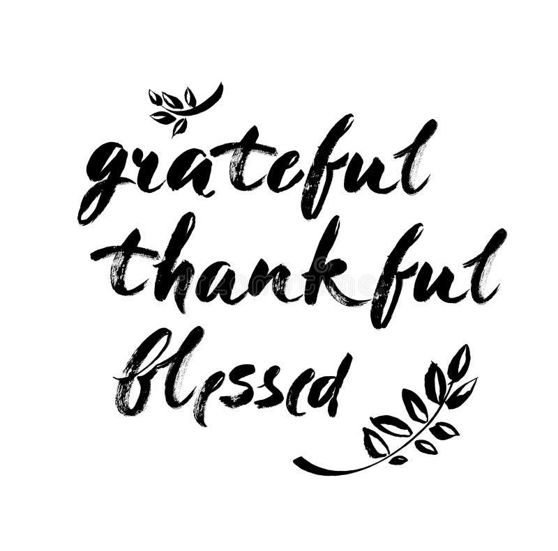 保佑的感恩感激-激动人心的情人节浪漫手写的行情 好为海报, T恤杉,印刷品,卡片,禁令 皇族释放例证