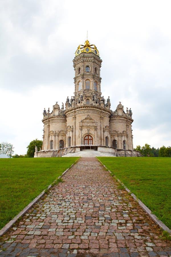 保佑的教会dubrovitsy玛丽・俄国贞女 免版税图库摄影